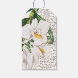 White Orchids Calligraphy Gift Tags