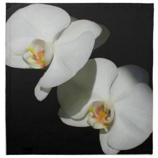 White Orchids Cloth Napkins
