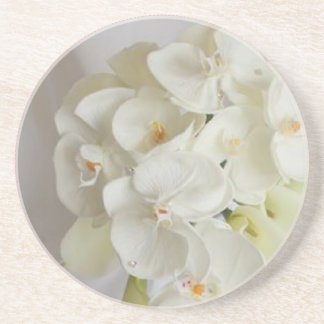 White-Orchids Coaster