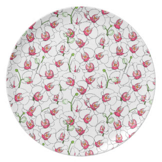 White orchids. plate