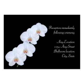 White Orchids Reception Cards Business Card