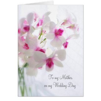 White orchids Thank you Mother for my Wedding Greeting Card