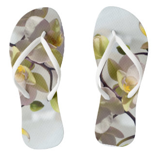 White Orchids Thongs