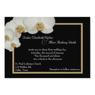 White Orchids Wedding Invitation