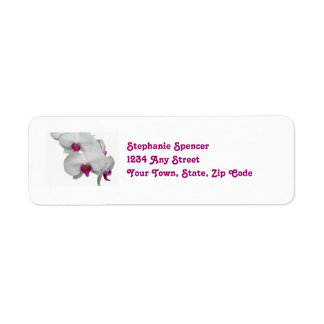 White Orchids Wedding Labels