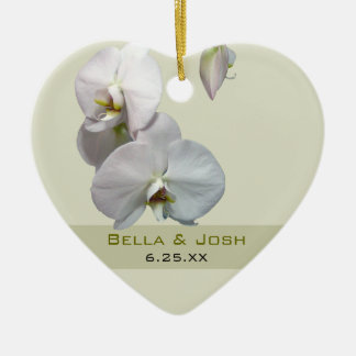 White Orchids Wedding Ornament
