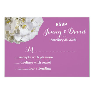 White Orchids Wedding Reply RSVP Cards 9 Cm X 13 Cm Invitation Card