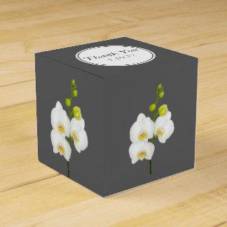 White Orchids Wedding Thank You Favour Box
