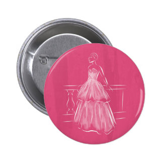 White Out Gown 6 Cm Round Badge