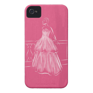 White Out Gown iPhone 4 Case-Mate Case