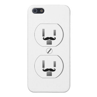 White Outlet with Mustache Design iPhone 5 iPhone 5/5S Case
