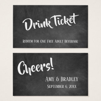 White Over Chalkboard, Casual Drink Tickets
