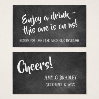 White Over Chalkboard, Friendly Drink Tickets