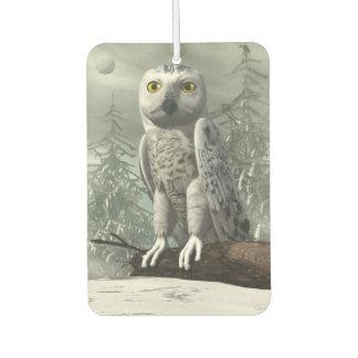 White owl - 3D render Car Air Freshener