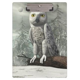 White owl - 3D render Clipboards