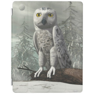 White owl - 3D render iPad Cover
