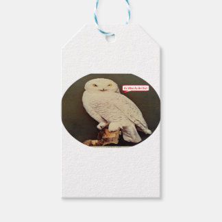 white owl drawing gift tags