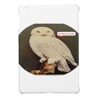 white owl drawing iPad mini covers