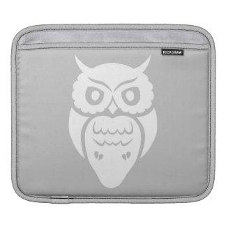 White owl iPad sleeve