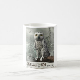 White owl quote - 3D render Coffee Mug