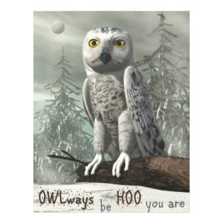 White owl quote - 3D render Flyer