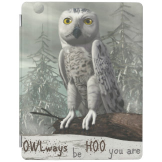 White owl quote - 3D render iPad Cover