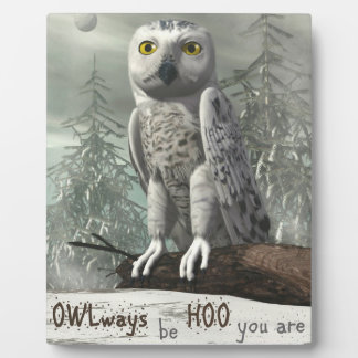 White owl quote - 3D render Plaque