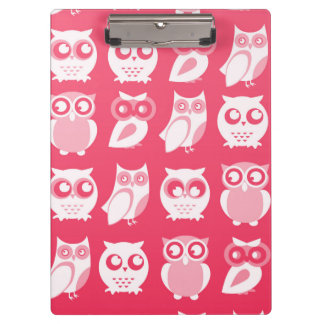 White Owls Clipboard