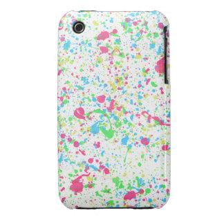 White Paint Splatter iPhone Case iPhone 3 Case-Mate Case