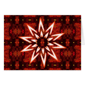 White painted star on tapestry, blank greeting car card