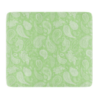 White Paisley Cutting Board by Julie Everhart