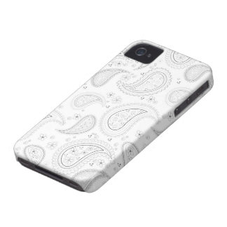 White paisley pattern stylish iphone 4 casemate Case-Mate iPhone 4 case