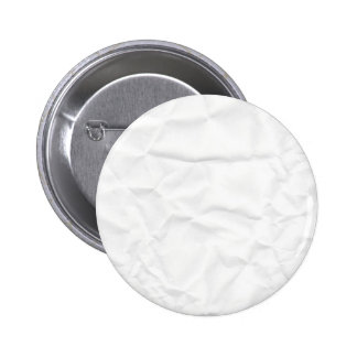 WHITE paper crease creased texture crumple crumple Pinback Buttons