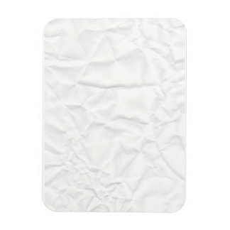 WHITE paper crease creased texture crumple crumple Rectangle Magnet