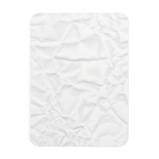 WHITE paper crease creased texture crumple crumple Rectangle Magnet