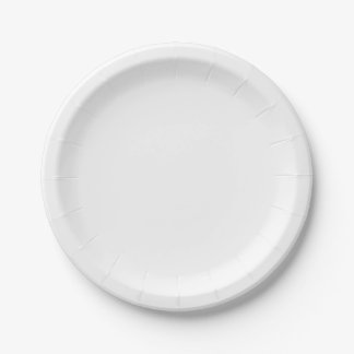 White Paper Plates 7 Inch Paper Plate