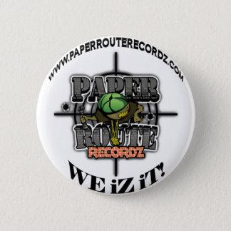 White Paper Route Recordz - We iZ iT! Button! 6 Cm Round Badge