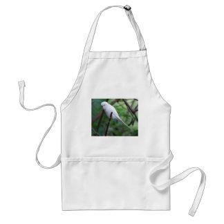 white parakeet adult apron