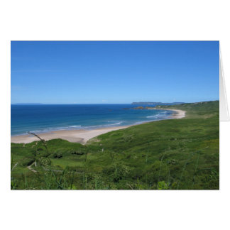 White Park Bay, Northern Ireland coast Card
