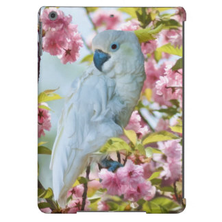 White Parrot and Cherry Blossoms Case For iPad Air