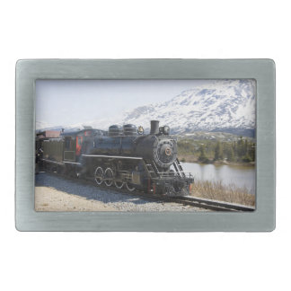 White Pass Train Buckle Rectangular Belt Buckles