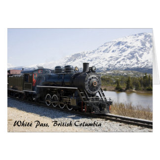 White Pass Train in Snow Greeting Card