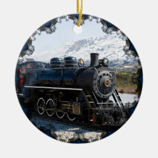 White Pass Train in Snow Ornament
