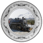 White Pass Train in Snow Porcelain Plate