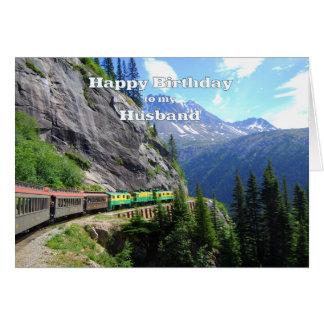 White Pass & Yukon Route Husband Train Birthday Card