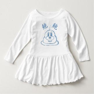 White & Pastel Blue 鮑 鮑 Toddler Ruffle Dress 4