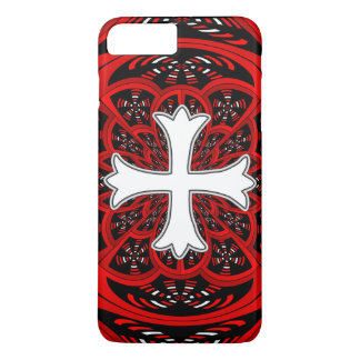 White patonce cross iPhone 7 plus case