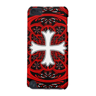 White patonce cross iPod touch 5G covers