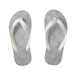 white pattern kid's flip flops