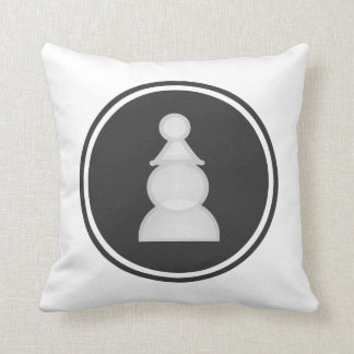White Pawn Chess Cushion